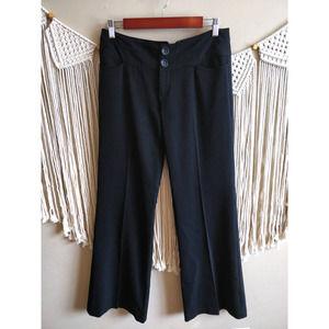 Nanette Lepore Black Straight Flare Dress Slacks 2